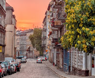 Narrow traditional streets of Europe Royalty Free Stock Images