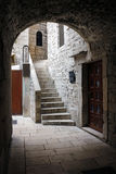Narrow treet in Diocletian palace Royalty Free Stock Photo