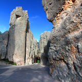 Narrow Tunnel on Needles Highway Royalty Free Stock Photos