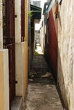 Narrow Urban Alley in Asia Stock Photo