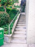 Narrow urban long stair set Royalty Free Stock Photos