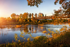 A narrow Velikaya River Royalty Free Stock Photography