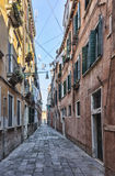Narrow Venetian Street Royalty Free Stock Images