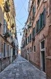 Narrow Venetian Street Royalty Free Stock Images