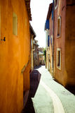 Narrow village street Stock Photography