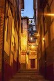 Narrow Walking Street Hotels Evening Albaicin Granada Andalusia Stock Photography