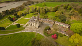 Narrow Water Castle. Newry. county Down. Ireland. Aerial view. Narrow Water Castle and gardens. Newry. county Down. Ireland royalty free stock photo