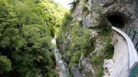 Narrow water stream.  stock footage