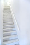 Narrow white ladder stair Stock Photos