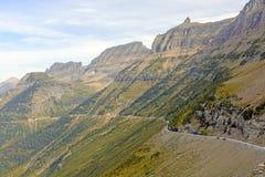 Narrow Winding Road Going up a Mountain Ridge Stock Image