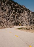 Narrow Windy Single Lane Road Stock Photography