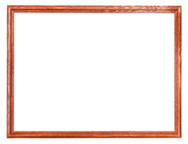 Narrow wooden painted picture frame isolated Royalty Free Stock Photo