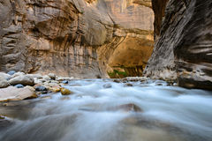 The narrow, Zion National park Royalty Free Stock Photos