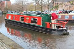 Narrowboat in England Royalty Free Stock Photography
