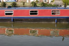 Narrowboat at Hungerford. Berkshire. UK Royalty Free Stock Photography