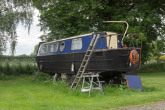 Narrowboat out of water Royalty Free Stock Photo
