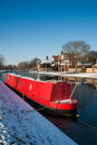 Narrowboat on river Cam Royalty Free Stock Photos