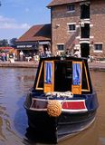 Narrowboat, Stoke Bruerne. Royalty Free Stock Images