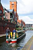 Narrowboats, Brindley Place, Birmingham. Stock Photos