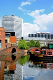 Narrowboats, Gas Street Basin, Birmingham. Stock Photography