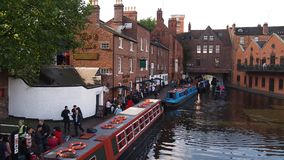 The canals in Birmingham, England Royalty Free Stock Photography