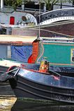 Narrowboats, Gas Street Basin, Birmingham. Stock Photos