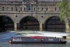 Narrowboats na rzece Avon w skąpaniu Zdjęcie Stock