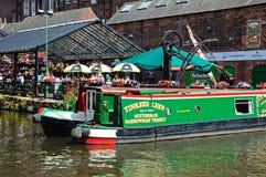 Narrowboats outside pub, Nottingham. Royalty Free Stock Photos