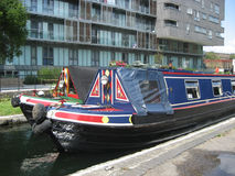 Narrowboats on Regent's Canal London Royalty Free Stock Photos