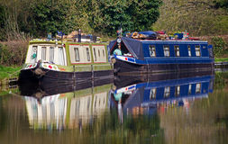 Narrowboats Royalty Free Stock Photo