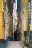 The narrowest alley in Stockholm Royalty Free Stock Photo
