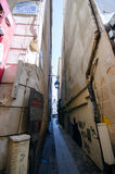 The narrowest street in Paris Stock Photo
