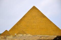 The narrowing of the imitation of The Egyptian pyramids Stock Photos