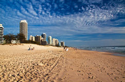 Narrowneck Beach. Looking north along Narrownech Beach from Surfers Paradise, Gold Coast Stock Images