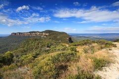 Narrowneck-Hochebenen-blaue Berge Australien Stockfotografie
