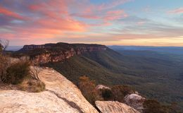Narrowneck sunset Blue Mountains Stock Photo