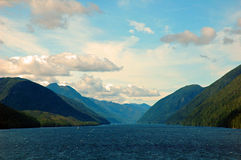 The Narrows. Narrow area in the Inside Passage Royalty Free Stock Photo