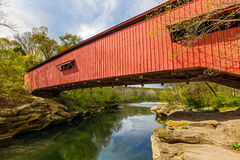 Narrows Covered Bridge Stock Photos