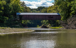 Narrows covered bridge Stock Photography