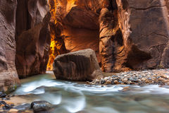 The Narrows trail, Zion national park, Utah, Zion National Park, Stock Photography