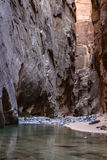 The Narrows in Zion NP Royalty Free Stock Photography