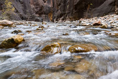 The Narrows in Zion NP Royalty Free Stock Images