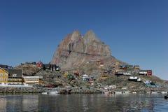 Narssarssuaq在格陵兰 免版税库存照片