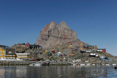 Narssarssuaq em Gronelândia Foto de Stock Royalty Free