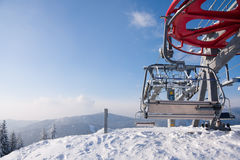 narta dźwignięć gór narta Zdjęcie Stock