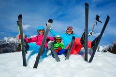 Narta, zima, śnieg, narciarki Obraz Stock