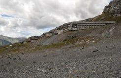 Narty stacja w szwajcarskich Alps Obrazy Stock