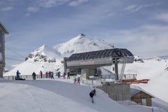 Narty stacja w szwajcarskich Alps Fotografia Royalty Free