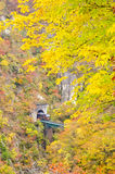 Naruko Gorge in the Autumn Royalty Free Stock Photo