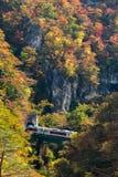 Naruko Gorge valley with rail tunnel in Miyagi Tohoku Japan Royalty Free Stock Photo